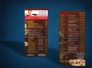 Projekt graficzny ulotki gastronomicznej